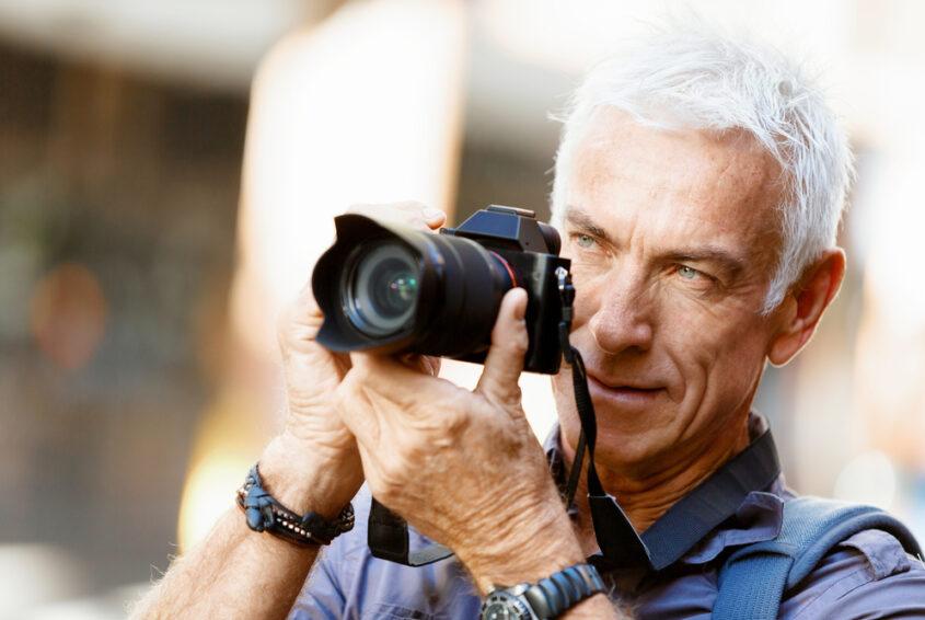 Hobby emeryta fotografia